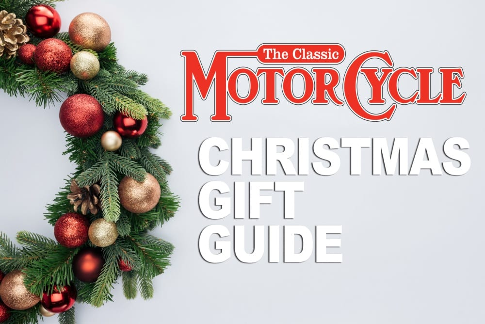 Title card: Christmas Gift Guide, The Classic Motorcycle
