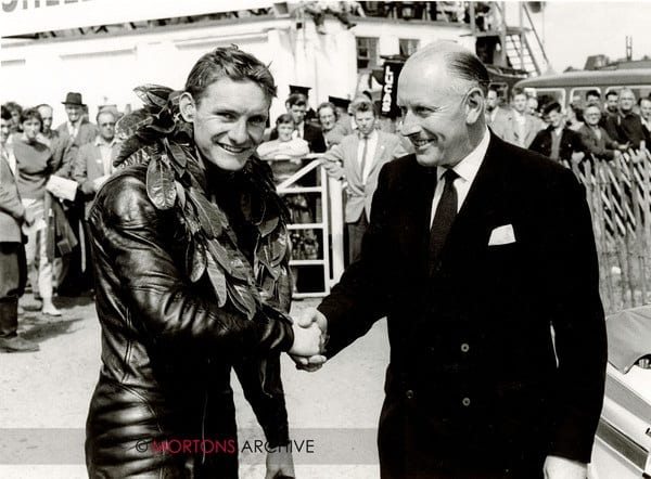 Oulton Park 1st August 1960 - Mike Hailwood and Rex Foster.