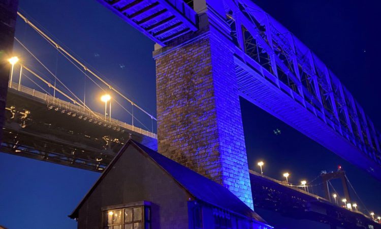 Some of the best known railway landmarks across the UK were lit up in blue to show support for NHS and key workers during the coronavirus pandemic.