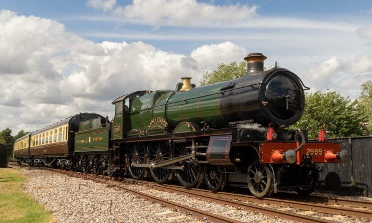 GWR Saint class No. 2999 Lady of Legend will look the part at the head of the Severn Valley Railway's GWR carriages. The 4-6-0 is seen here in action at the Didcot Railway Centre. CHARLIE JACKSON