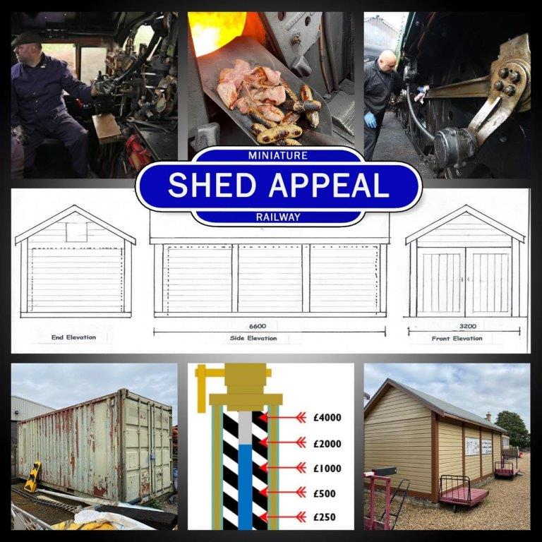 A montage showing some of the experiences the winner of the draw will enjoy – as well how the engine shed for the Wansford Miniature Railway will look when complete.