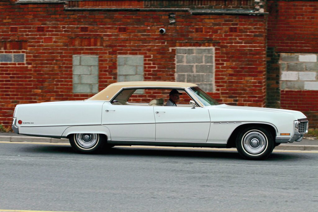 Driving shot of 1970 Buick Electra 225