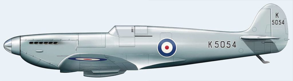 Prototype Spitfire K5054, shown as configured in mid-May 1936. Juanita Franzi/Aero Illustrations © 2010