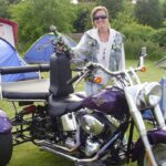 Diane Charlton and her Harley Trike for Ladies Who Ridee