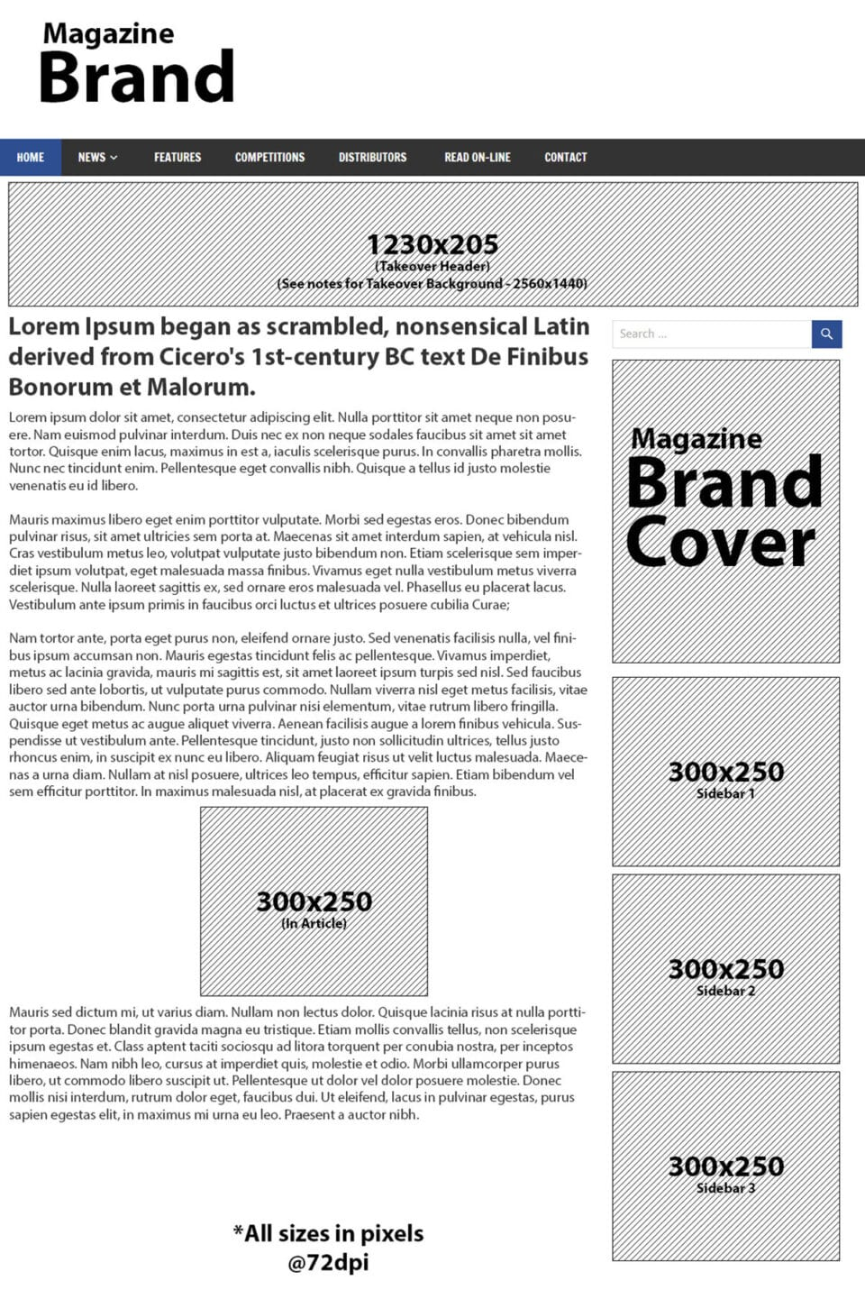 On-line Banner Ad Sizes