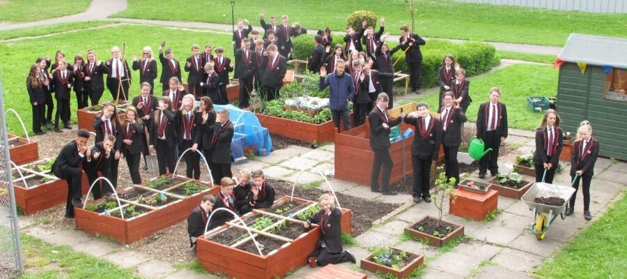 Young gardeners show how it's done