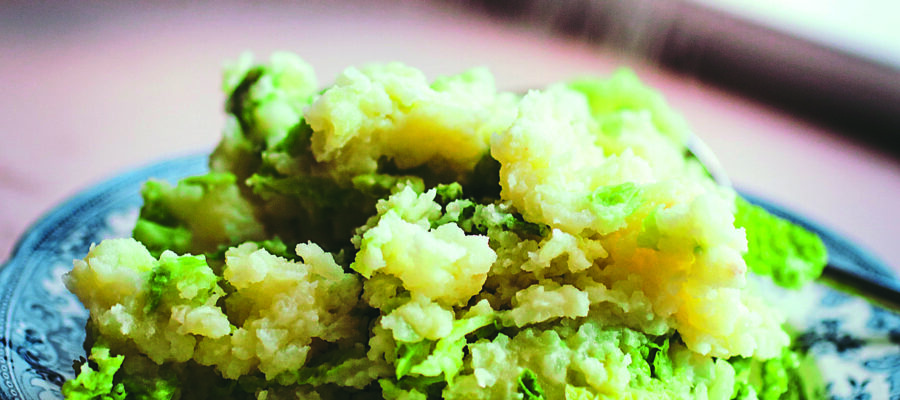 Cheesy Mashed Potato with Savoy Cabbage