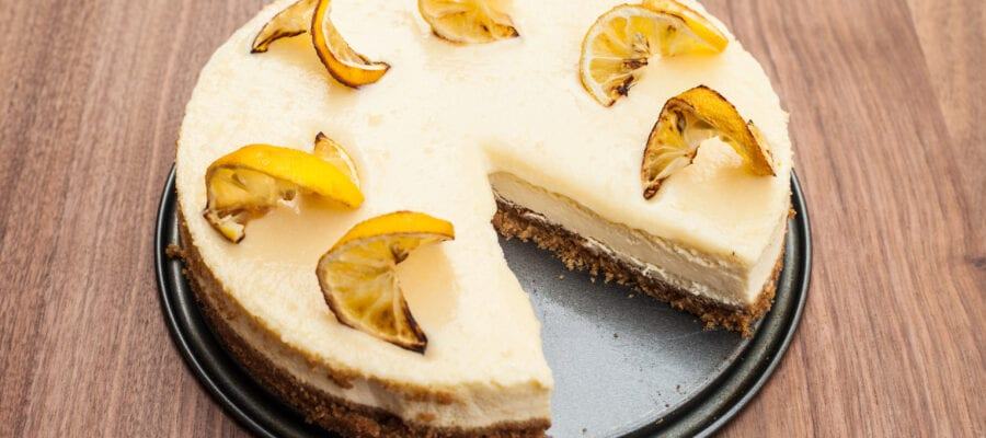 Bitter Lemon No-Bake Cheesecake