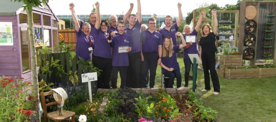 Silver Merit medal for Thrive students at BBC Gardeners' World Live!