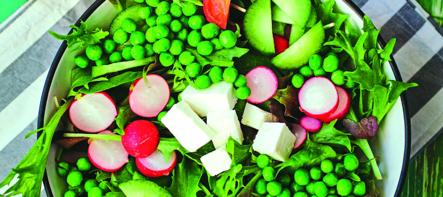 SPRING SALAD WITH PEAS