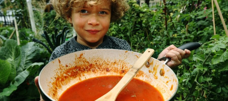 Soup-er way to share produce
