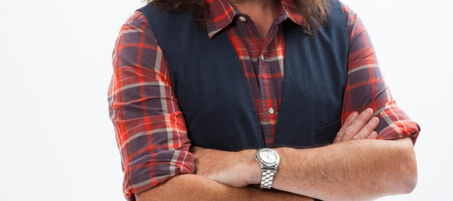 Hairy Biker Dave Myers rides into Southport Flower Show