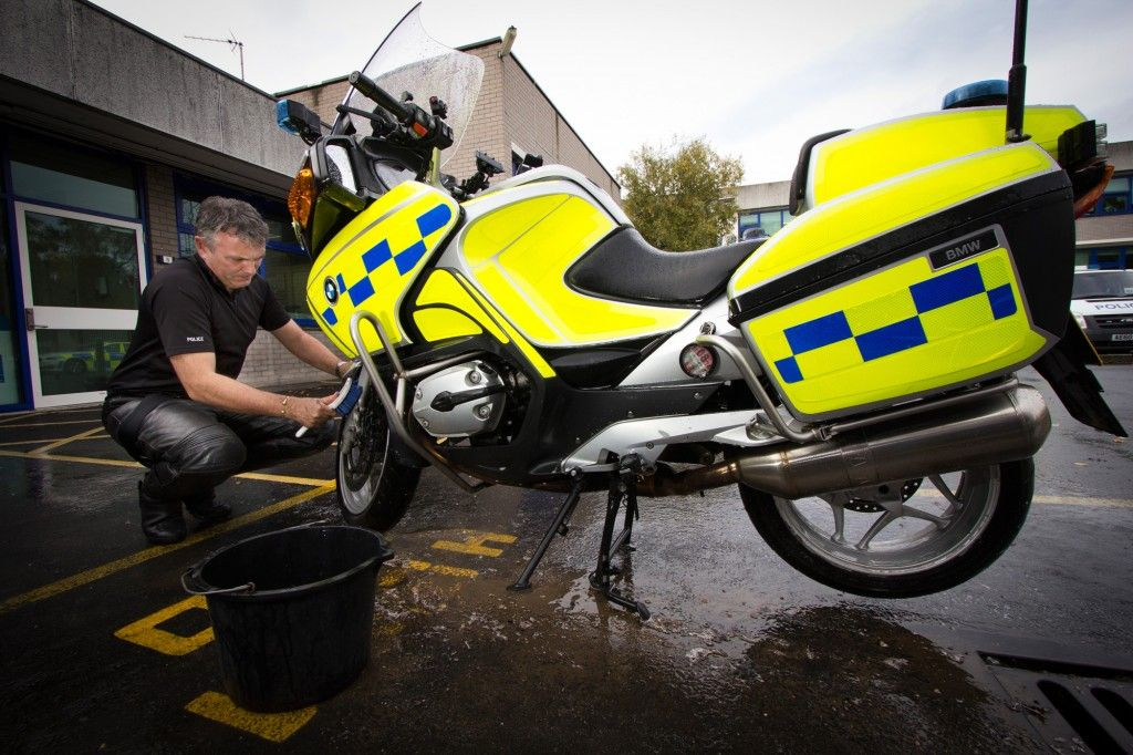 At the end of the shift, it's the officer's responsibility to clean the bikes