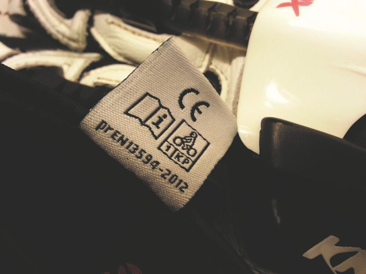 CE Motorcycle label