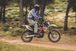 Whilst tall, the Enduro R is a great machine off road