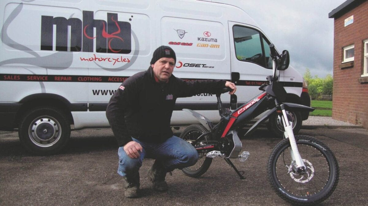 Martin Bell with one of his Electric bikes - sev 025