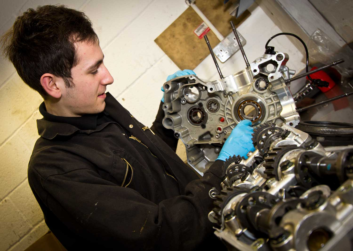 Skilled young mechanics like Andy are a vital part of the future of the motorcycle industry.
