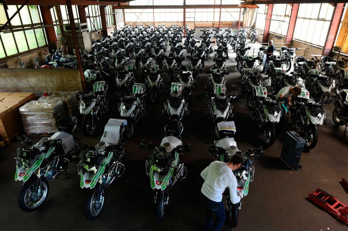 Over 80 motorcycles are being shipped to Canada for the final