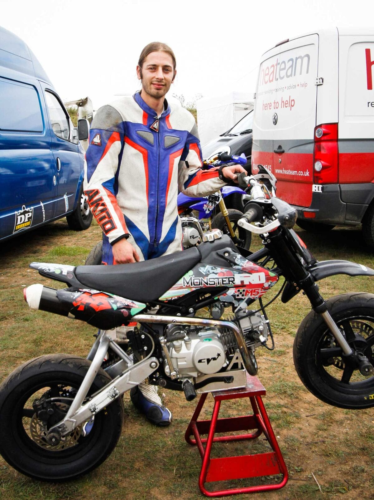 Race leader Ben Lord with his Monster-Pro CRF50