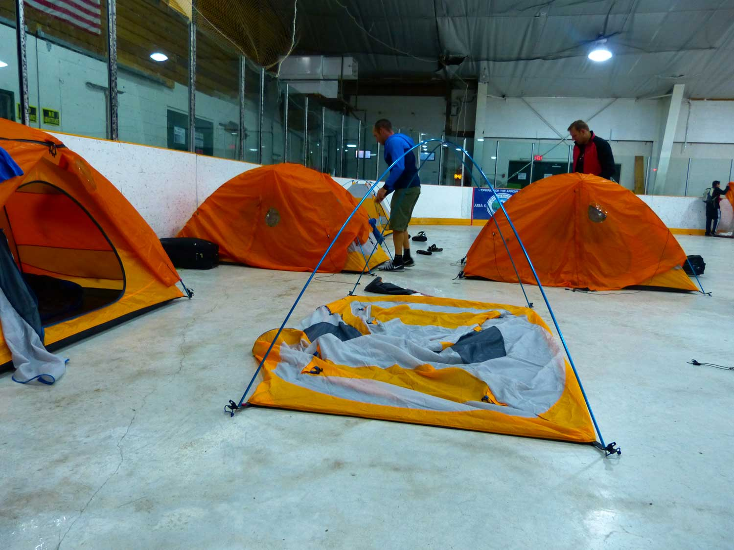 Tents-up-in-ice-arena
