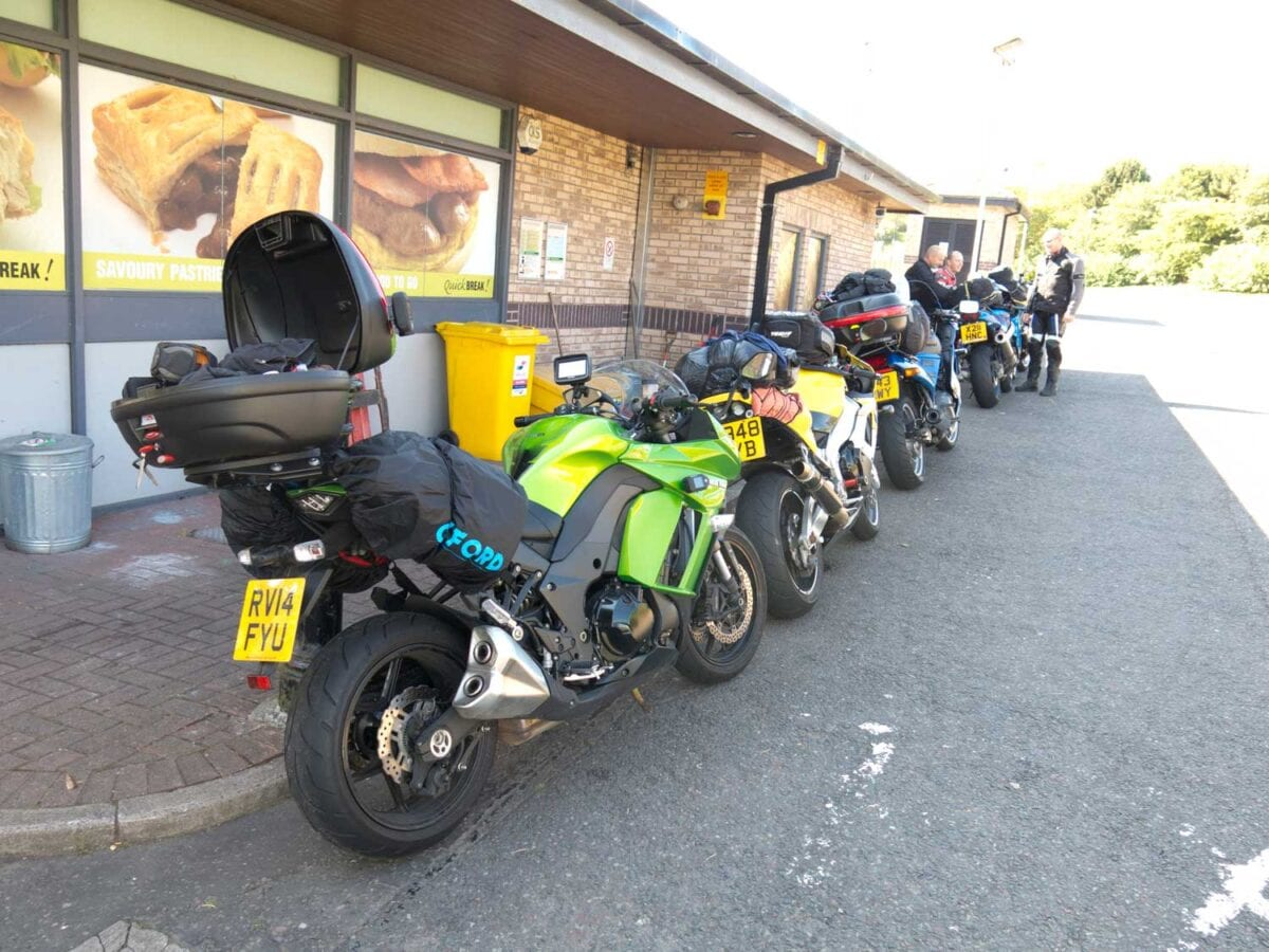 One of the many fuel stops from the 1339 mile journey