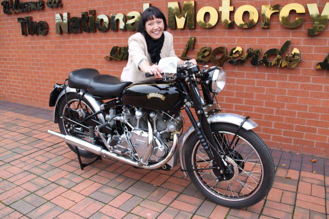 National Motorcycle Museum raffle prize vincent winner