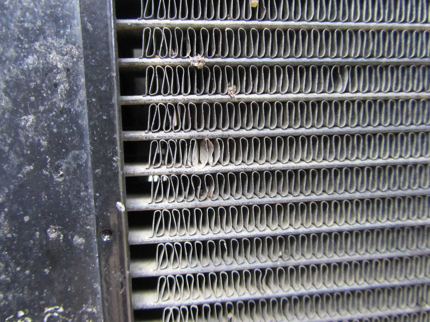 Damage that occurred before fitting the R&G radiator guard