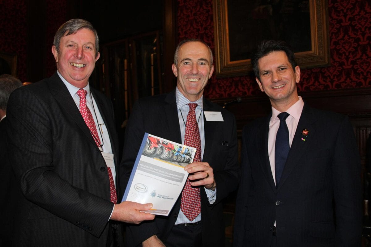 Steve Kenward, Tim Madgwick and Steve Baker with the report