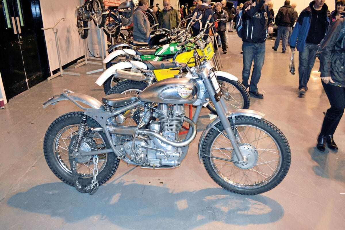 Classic-Dirt-Bike-Show-at-Telford---1961-'works-replica'-Royal-Enfield.-Credit---Mortons-Archive