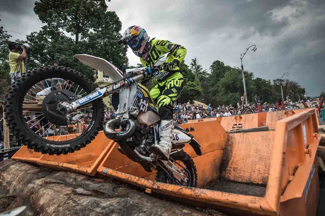 Alfredo Gomez Cantero of Spain performs during the prologue race at the Red Bull Romaniacs in Sibiu, Romania on July 14th, 2015. // Predrag Vuckovic/Red Bull Content Pool // P-20150714-00571 // Usage for editorial use only // Please go to www.redbullcontentpool.com for further information. //