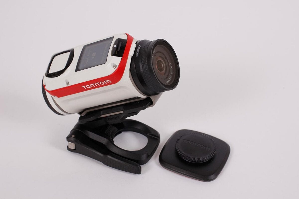 360° pitch mount allows positioning anywhere, and leaves only a small bracket when removed.