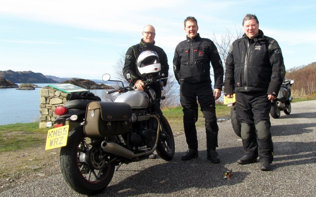 The riders from left to right: Mikko Nieminen, Nick Leggott, Andy Frith