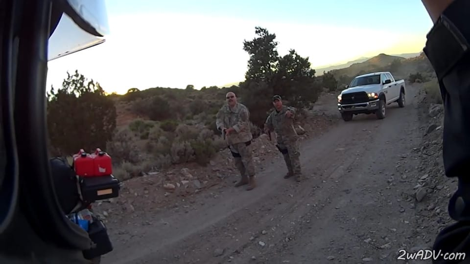 Bikers get stopped by armed forces for 'finding Area 51 entry'