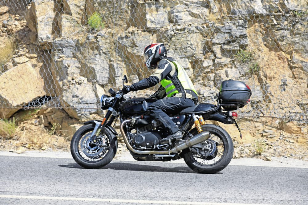This is the Thruxton that we caught out on test in early August.