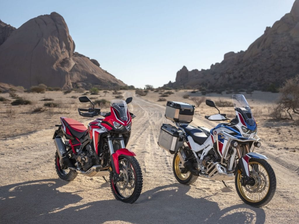 The Honda Africa Twin and Africa Twin Adventure Sports.