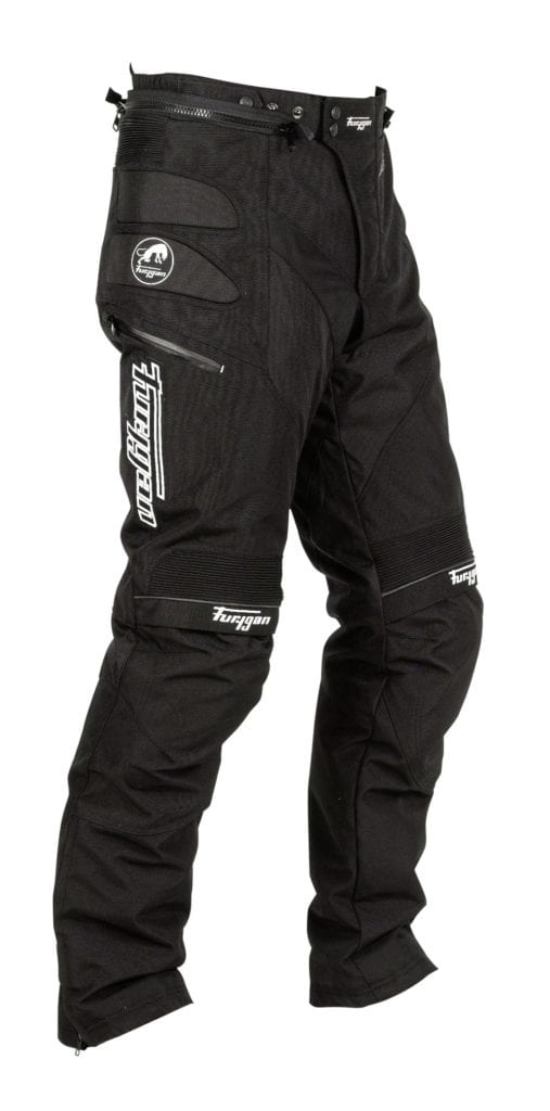Side view of the Furygan Duke TRS motorcycle winter trousers.