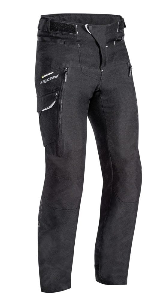 Front view of the Ixon Sicilia motorcycle winter trousers.