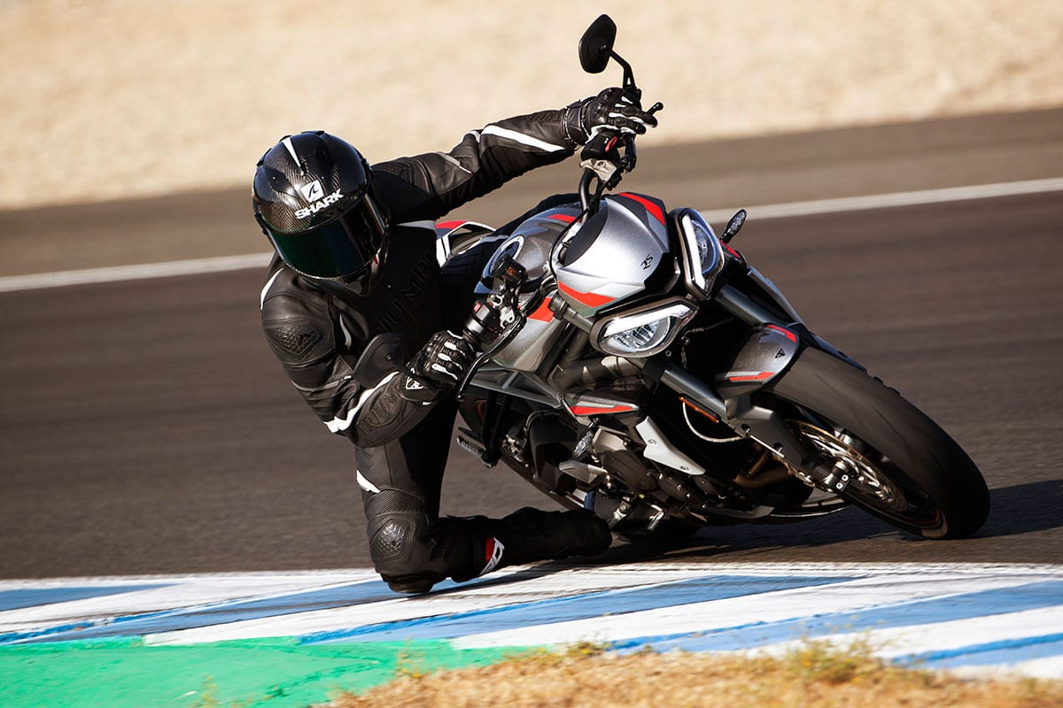 This could be you. Riding the Triumph Street Triple RS that you secured last November after that local dealer launch you went to. What a motorcycle you have! Etc…