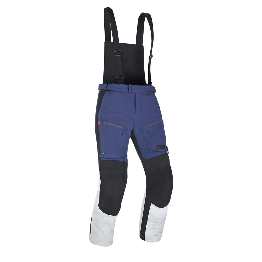 Front view of the Oxford Mondial motorcycle winter trousers.