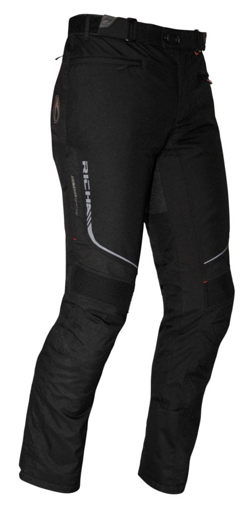 Front view of the Richa Colorado motorcycle winter trousers.