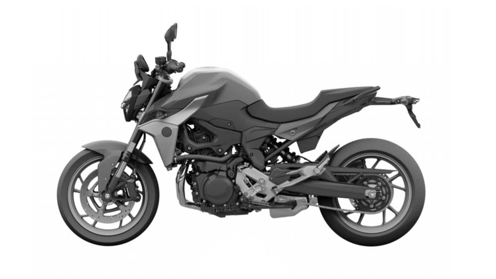 Naked lines on the F 850 R are similar to the bigger bike - the 1250 R's - look.