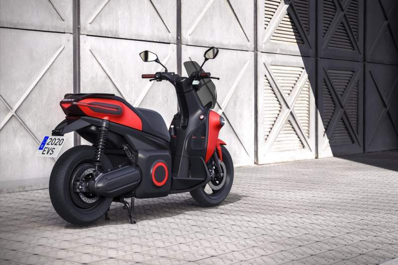 This is the e-Scooter from SEAT. It's got 240Nm of torque on tap!