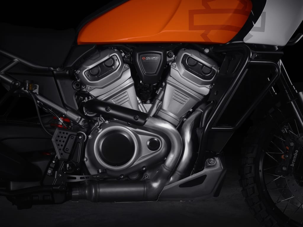 The Revolution Max engine. Narrow and able to deliver some punch, according to the American bike builder.