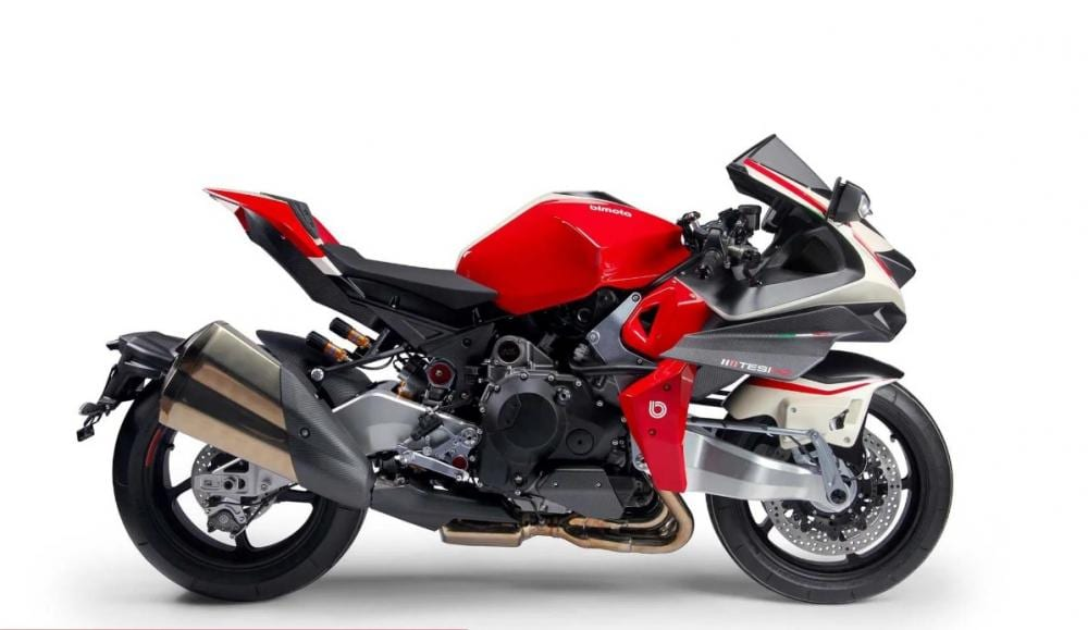 The motorcycle as it was revealed at the Milan Show in early November.