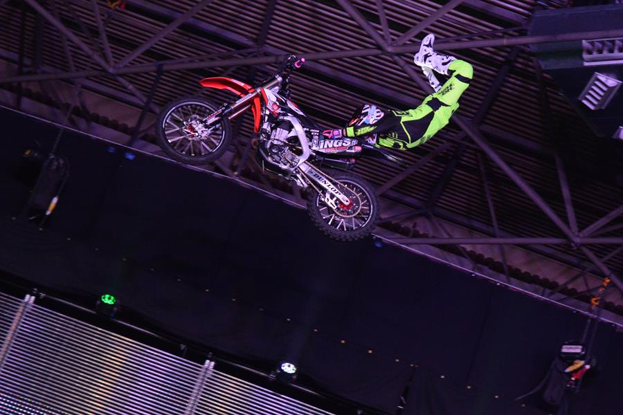 High-flying motorcycle fun at this year's Motorcycle Live event at the NEC.