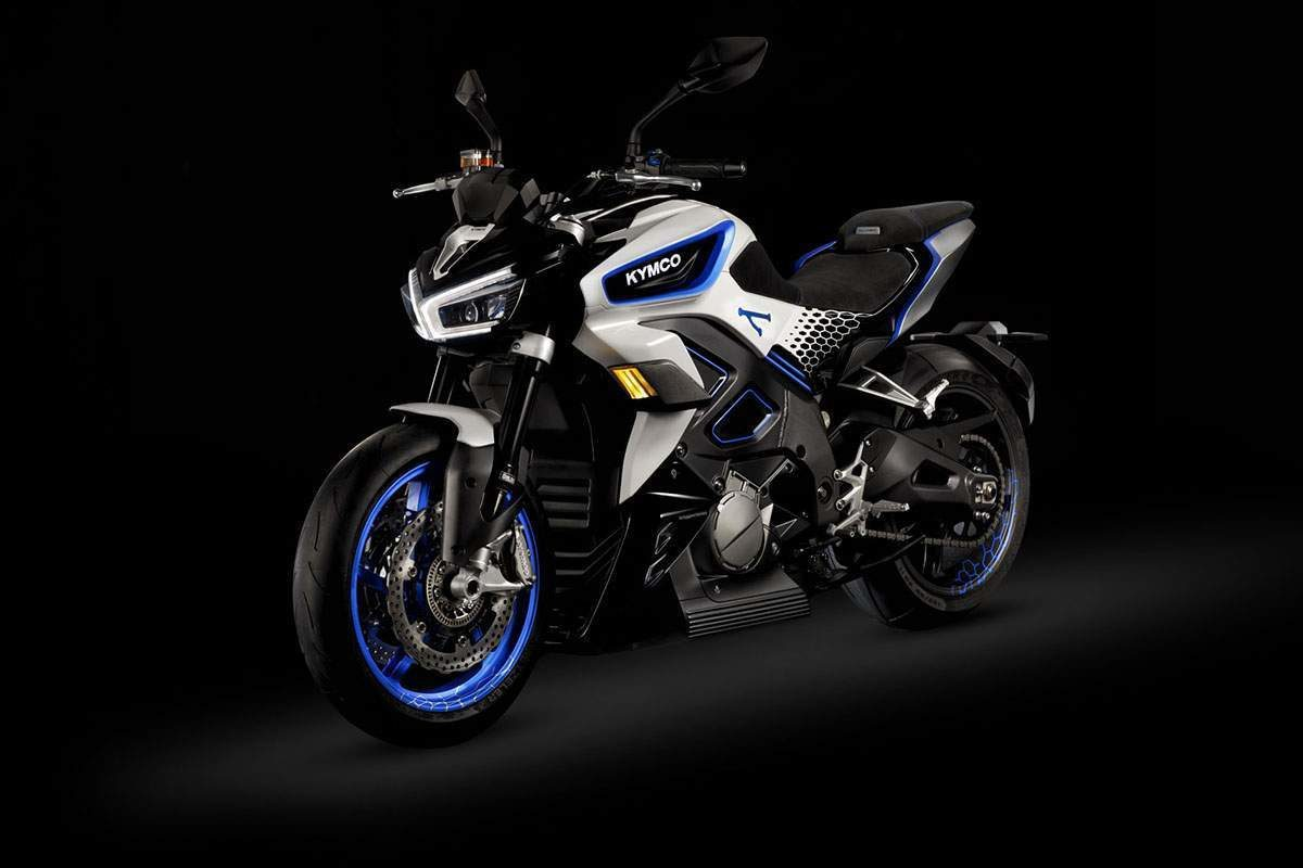 Ducati's Diavel meets Harley's LiveWire meets Yamaha's MT-range? It's a good looking electric bike, this KYMCO RevoNEX.