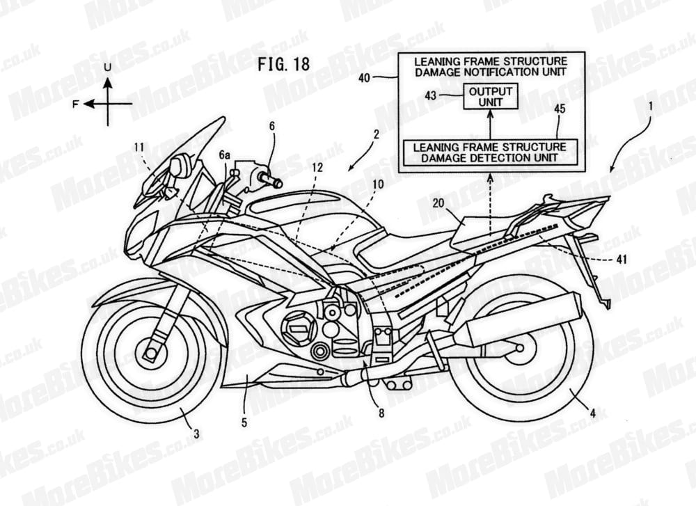 This is the motorcycle that Yamaha is using to show how the carbon-fibre resin chassis that auto detects damage and bruises will be used. The factory has put the tech onto a patent around a FJR sport tourer - does that mean that this is a pointer to a lightweight, high-tech version of the popular mile muncher?