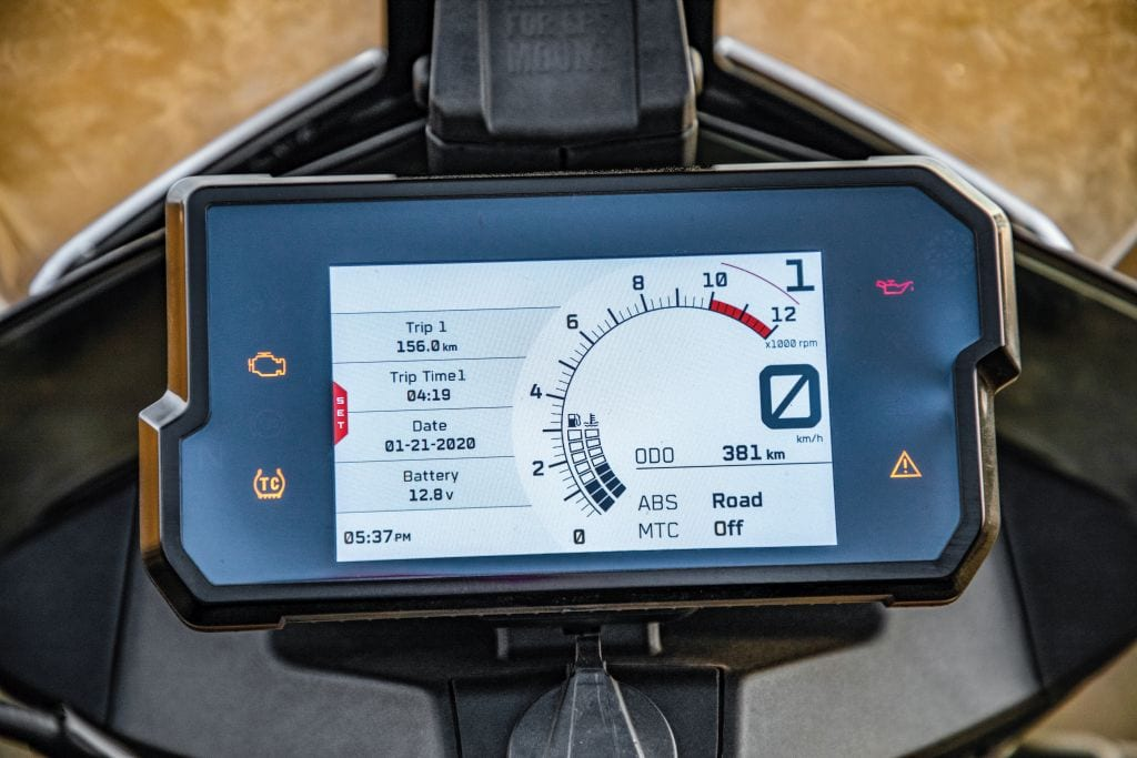 The TFT dash is brilliant. Easy to read and packed with information. Works with apps, too.