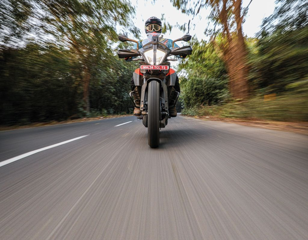 Get it on the grey stuff and the 390 Adventure impresses, impresses and impresses....