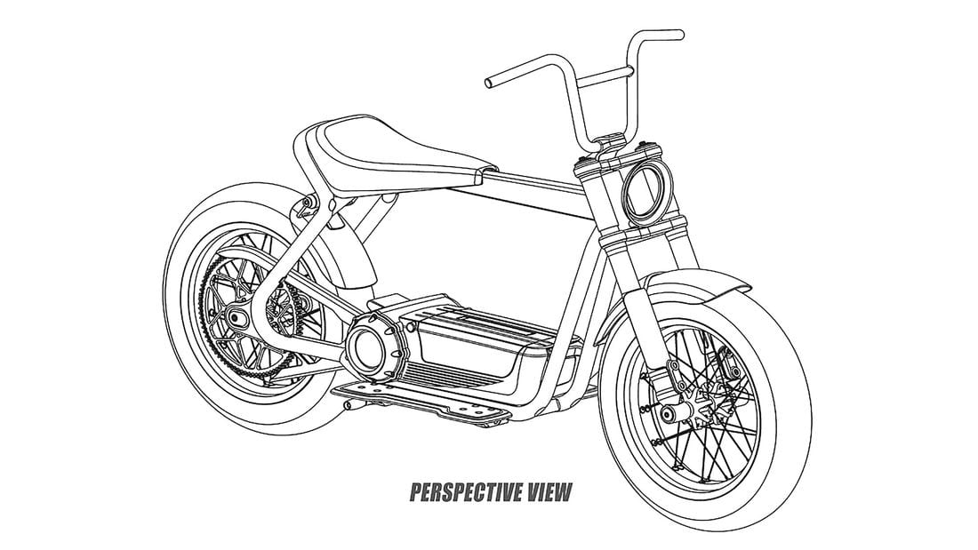 Not what your average motorcycle rider might think of if you asked them what the next electric Harley is going to look like... but this is the City Speedster patent.
